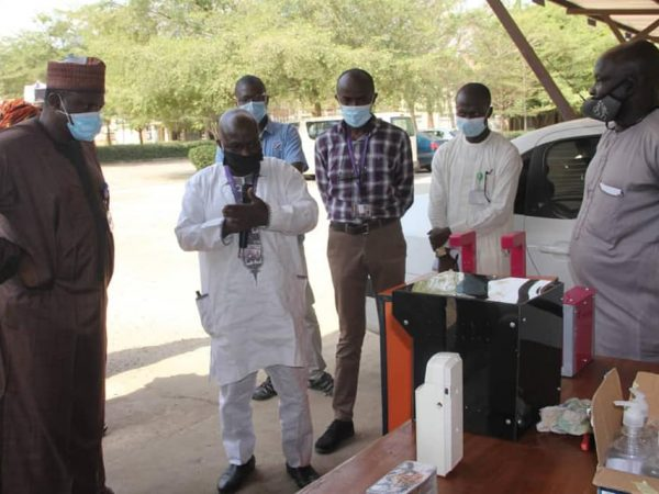 FUTMINNA RESEARCHERS DEMONSTRATE COVID-19 RESPONSE EQUIPMENT